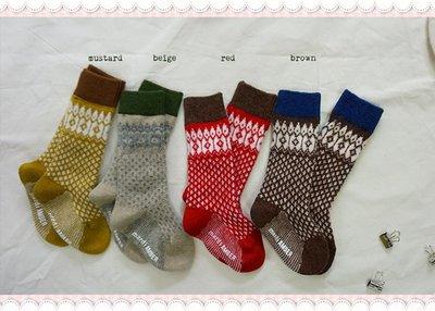 。~ 寶貝可愛 ~。韓國精選Amber優雅綻放,Kobel Jacquard Socks襪子。秋冬現貨