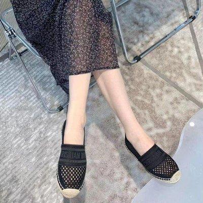 巴莉plus【代購】Dior 21ss鏤空編織刺繡漁夫半拖/漁夫鞋 2款式
