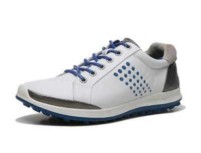 出清特賣ECCO愛步 超輕透氣 女鞋男鞋golf shoes系列 高爾夫鞋151514固定釘混合板鞋皮鞋白蘭36-44