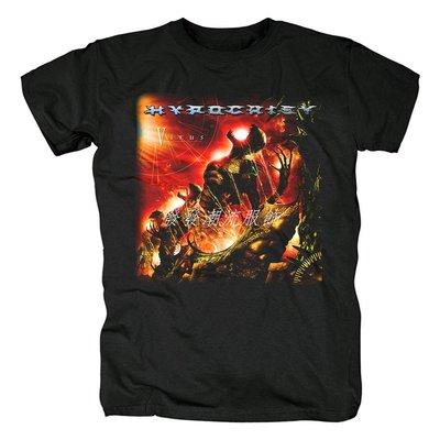 發發潮流服飾Hypocrisy瑞典樂隊死亡黑色金屬死金黑金核金屬朋克搖滾紀念T恤