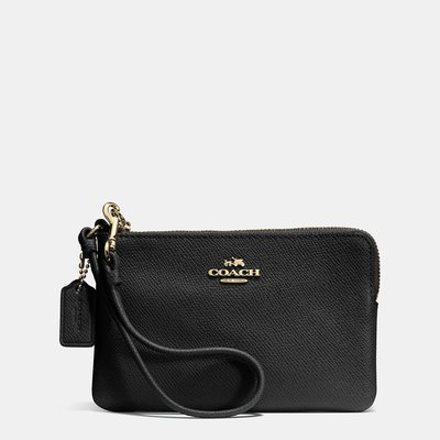 Coco 小舖COACH 52392 Embossed Small L-zip Wristlet in Leather