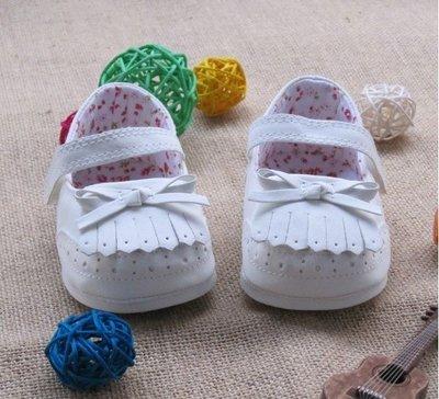 『※妳好,可愛※』流蘇鋼琴鞋 學步鞋 白色經典款 學步鞋 嬰兒鞋 寶寶彌月禮 寶寶鞋