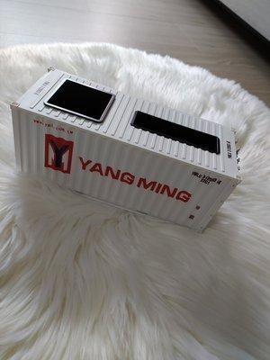 全新 現貨 陽明海運 貨櫃 集裝箱 造型 遙控器 收納 衛生紙盒 飾品 茶几 餐桌 可開櫃門 YM 船 模型