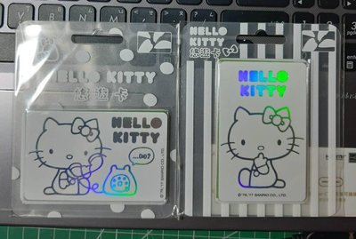 HELLO KITTY純白悠遊卡CHU...CALL ME(全新)