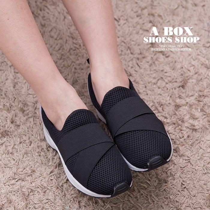 格子舖*【KT3544】零碼36-40 MIT台灣製 透氣網布拼接布面 簡單流行繃帶 布面鞋 休閒鞋 懶人鞋 3色