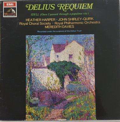 古典黑膠 DAVIS HARPER SHIRLEY QUIRK delius requiem and idyll