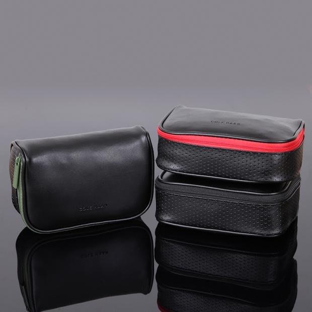 詢問度超高 COLE HAAN &美航 頭等艙 真皮質感 箱型過夜包 盥洗包 化妝箱 旅行收納整理包(CBS60)