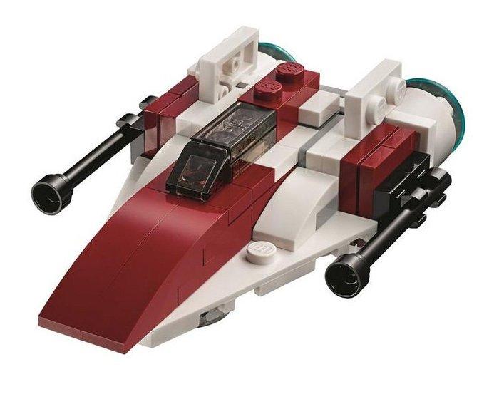 【LEGO 樂高】全新正品 益智玩具 積木/ STAR WARS 星際大戰系列 : A-Wing 戰機 30272 袋裝