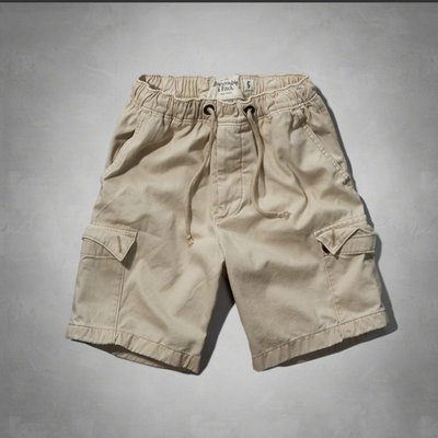 Maple麋鹿小舖 Abercrombie&Fitch * AF 淺卡其口袋工作短褲*( 現貨S號 )