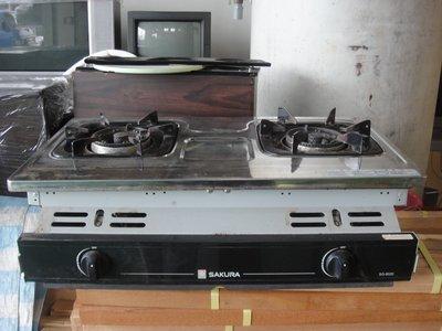 二手家具宏品 台中中古傢俱賣場 林內Rinnai RBT-201SV 崁入式瓦斯爐 2手廚房鍋具 餐具 餐飲設備 熱水器