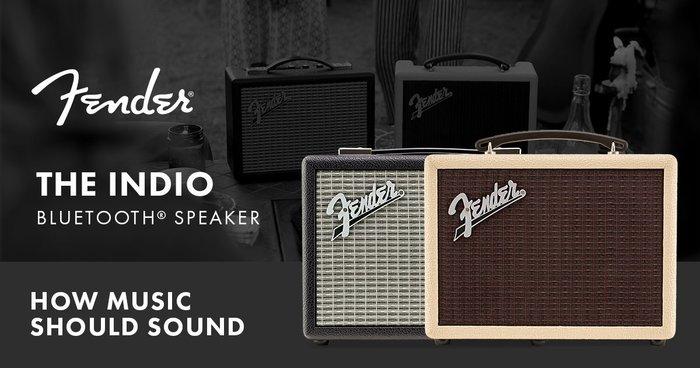 視聽影訊 Fender THE INDIO 復刻版 藍牙喇叭 雙色 【經典黑 / 復古白金】