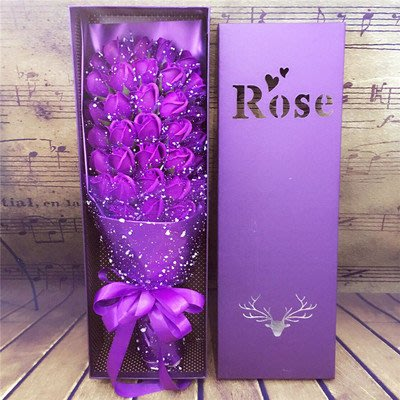 可代寫賀卡可代寄送 33朵仿真香皂玫瑰花束禮盒,送女友情人節,送閨蜜七夕節,生日禮物,母親節禮品,聖誕節的創意禮盒