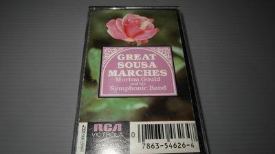 莫頓古爾德和他的交響樂隊 -『Great Sousa Marches』美國進口錄音帶 有歌詞 播放正常保存良好