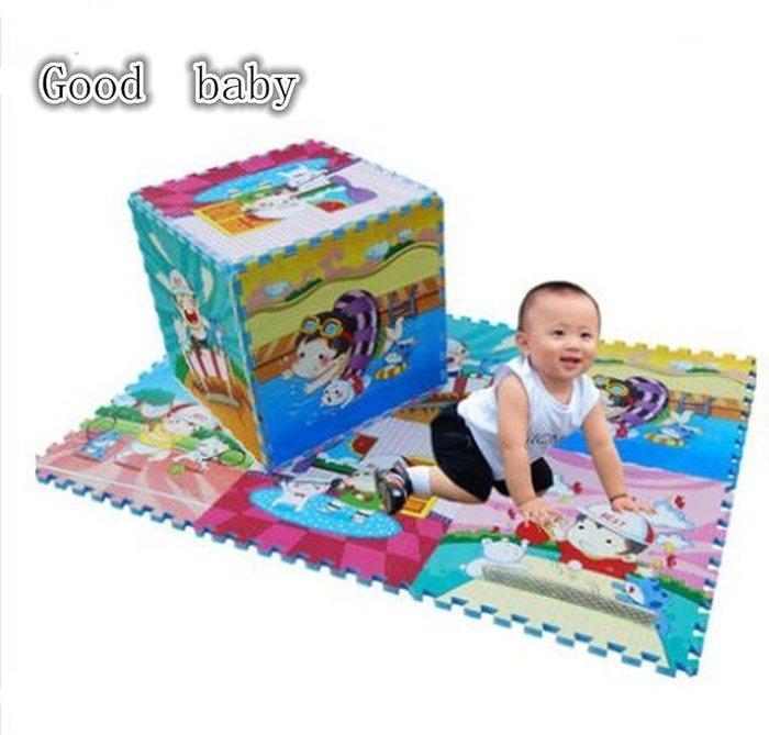 【優上精品】防摔款 寶寶爬行墊拼圖嬰兒爬行墊加厚2cm爬行毯泡沫地墊60爬爬(Z-P3283)