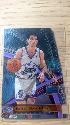 98-99 STADIUM CLUB TRIUMVIRATE LUMINOUS #T8A JOHN STOCKTON