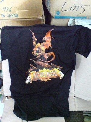 魔法風雲會~新加坡 製造~全新絕版棉T恤~劫運降臨 Scourge (Size:L)
