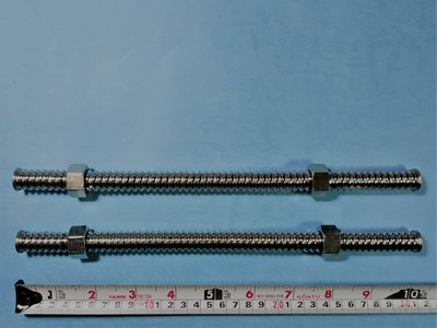 不鏽鋼 304 波紋管  螺紋管 不鏽鋼管 白鐵浪管 可繞管  熱水器軟管1尺(30cm)