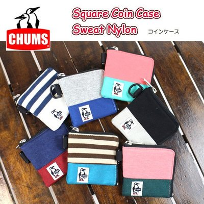 =CodE= CHUMS SQUARE COIN CASE SWEAT 毛巾布零錢包(黑.藍.粉紅).袋.戶外休閒.男女