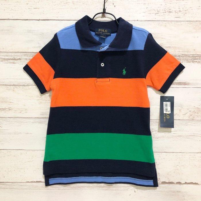 Maple麋鹿小舖 美國購買 童裝品牌POLO RALPH LAUREN 男童彩色條紋POLO短衫 * ( 現貨2T )