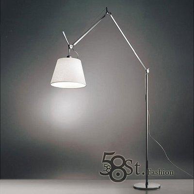 【58街-高雄館】義大利設計師款式「機械手臂布罩落地燈」。複刻版。GU-061