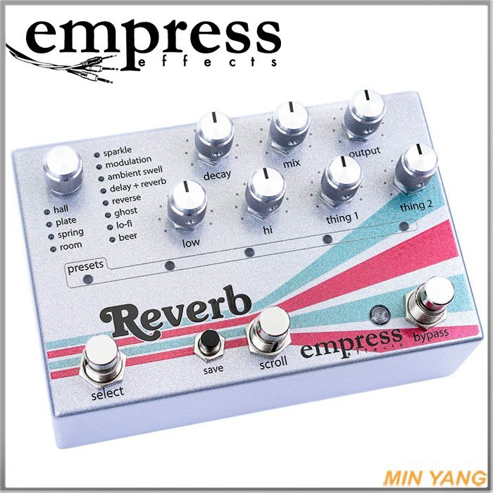 【民揚樂器】效果器 Empress Reverb 加拿大製