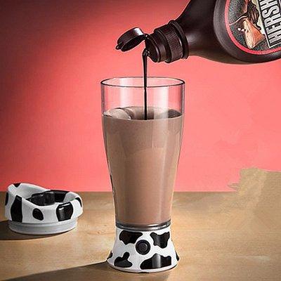 創意懶人杯子隨身攜帶牛奶自動攪拌杯咖啡杯奶牛電動攪拌杯子