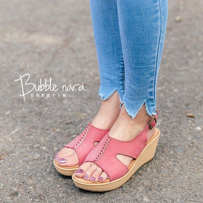 絕版35號。涼鞋  擁抱海邊境厚底楔型鞋。波波娜拉 Bubble Nara。包鞋般的包覆感 MAB17224