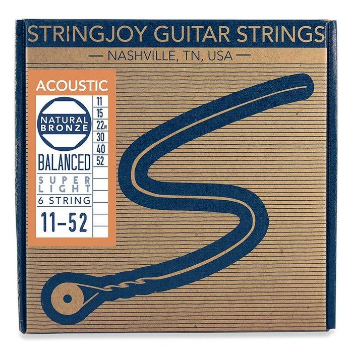 Stringjoy NB1152 Naturals Phosphor 磷青銅 (11-52) 民謠吉他弦【黃石樂器】