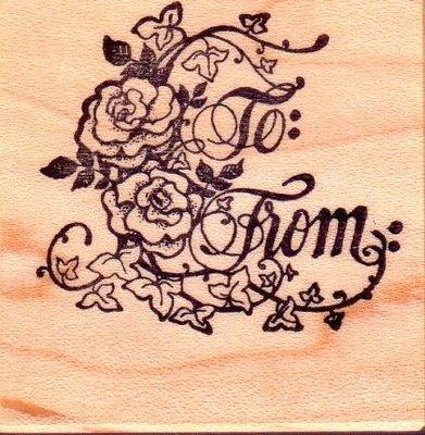 陽光一品DIY卡片印章專賣店~~PSX印章--玫瑰TO&FROM-#D460#~~美國製絕版品