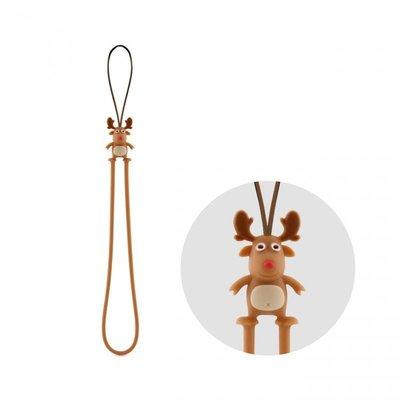 正Bone 防刮彈力吊繩 麋鹿吊繩 吊繩 手機吊繩 頸繩 環保 抗靜電 伸縮彈性 承重柔軟手機繩 聖誕.