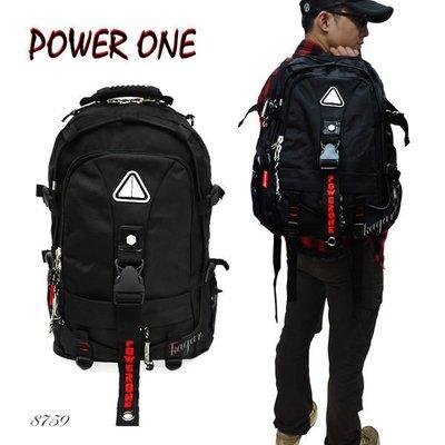 加賀皮件 POWERONE 街頭 拉風 前衛 後背包 登山包 14吋 筆電包 雙肩 後背包 ST-8759(A)