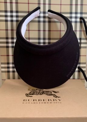 Burberry (黑標;全新可拆式內圈)遮陽帽