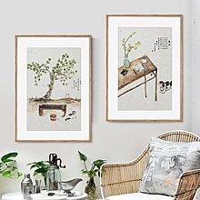 木紋畫框掛墻裝裱架客廳現代簡約A3 A2 4K 8開鋁合金相框海報定制 【全館免運】