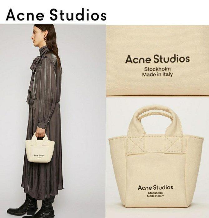 Acne Studios ► ( 米白色 ) 小款 / 帆布包 手提包 托特包 可肩背|100%全新正品