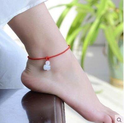 手工編織翡翠玉紅繩女貔貅腳繩簡約多款SMY1401