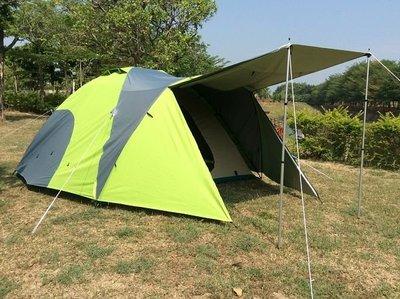 【SAMCAMP 噴火龍】超優品質㊣豪華6~8人雙門銀膠蒙古包帳篷(三代版+外帳前庭設計)-外型類似LOGOS 300