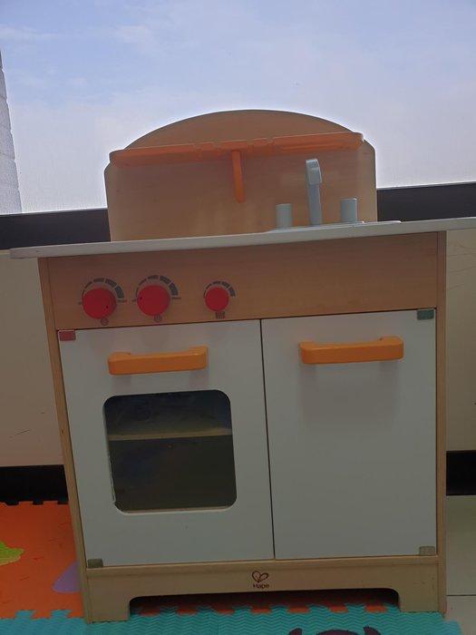 德國 Hape 愛傑卡 大型廚具 白/橘配色