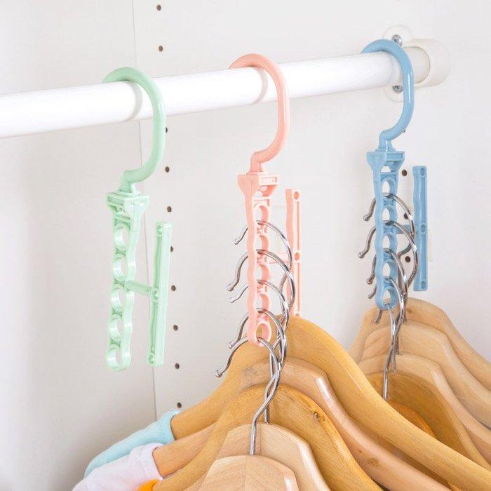 清潔塑料多層衣架掛鉤固定防風扣家用多 防滑晾衣架衣柜衣服掛衣架