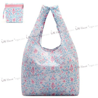 IN House*🇹🇼現貨ECO BAG 日本 卡通 兔子 愛麗絲 圖騰 摺疊收納袋 托特包 手提袋 購物袋 環保袋