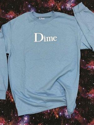 【款款】Dime 經典 LOGO mint 淡藍 天空藍 現貨 全新正品 長袖 滑板品牌