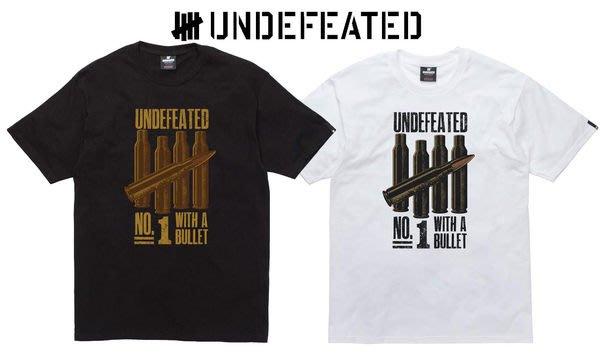 【 超搶手 】全新正品 2012 A/W 冬季新款 UNDEFEATED NO 1 BULLET TEE 黑色 S