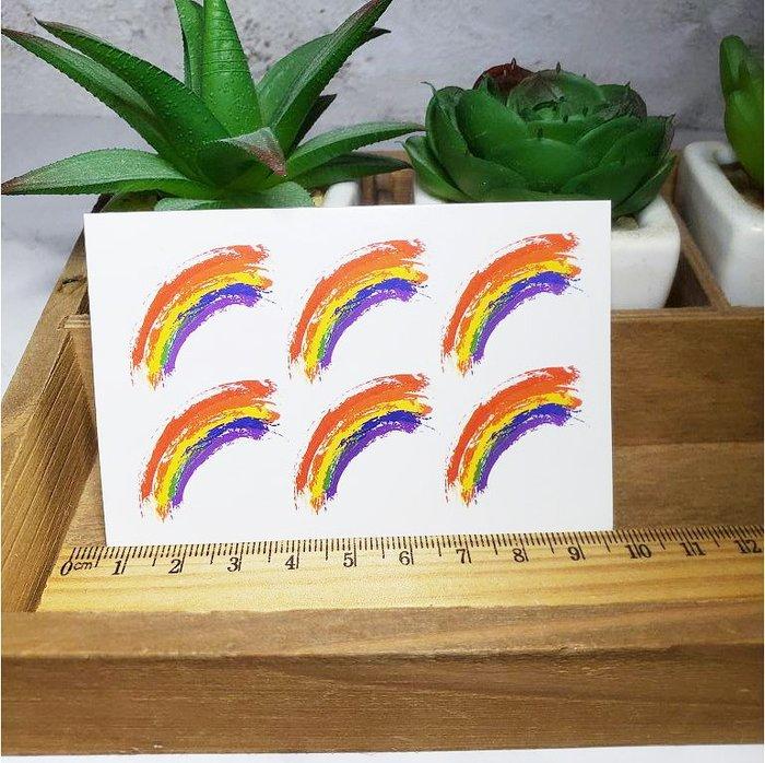 【萌古屋】迷彩臉部彩虹 - 防水紋身貼刺青貼紙ZR07 K12