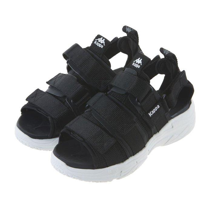 【Luxury】Kappa SHOES 19SU Chunki Trend 夏季涼鞋 厚底涼鞋 黑灰2色 男女鞋 情侶鞋