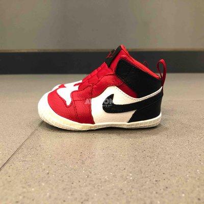 [歐鉉]NIKE JORDAN 1 CRIB BOOTIE 紅白 飛人 學步鞋 AT3745-601