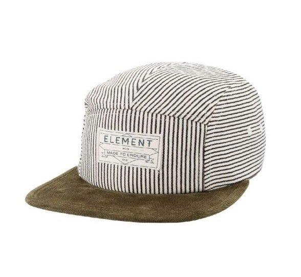 { POISON } ELEMENT WILLIAMS 5 PANEL HAT 山系直紋面料  皮格調節帶後扣 五片帽