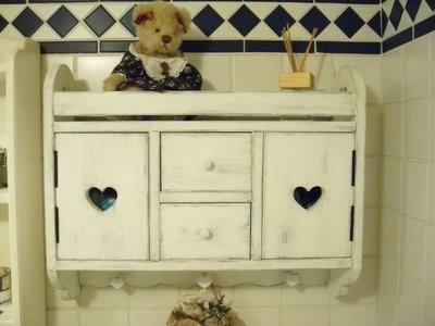 松木 實木 壁櫃 收納櫃 置物櫃**樂在幸福**木作坊~A81~松木收納壁櫃~復古刷白~01