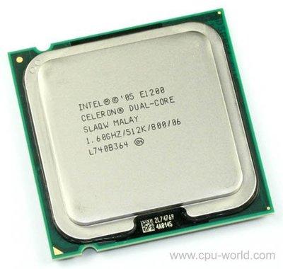 【偉鑫資訊】Intel CPU 處理器 E1200 E2140 E2160 E2180