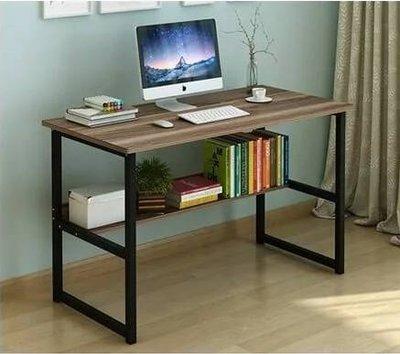 【CH13-第13章】雙層置物收納電腦桌 工作桌 書桌 辦公桌 學習桌 木紋貼面 下層板書架 加粗鋼架 防刮 防霉 防水