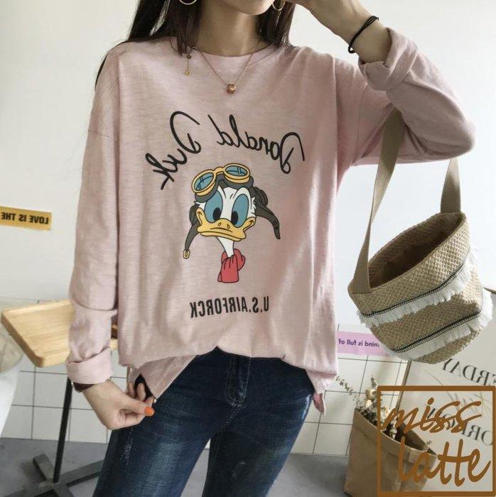 ✿✿拿鐵小姐MISS LATTE✿✿韓國 東大門 卡通鴨 竹節棉T恤