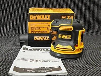 全新 Dewalt得偉 20V DCW210 可調速 免碳刷 砂紙機 打蠟機 散打機 含集塵 研磨機 單機